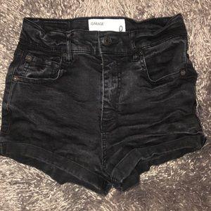 Garage Denium Shorts Black